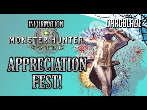 APPRECIATION FEST Details : Monster Hunter World thumbnail