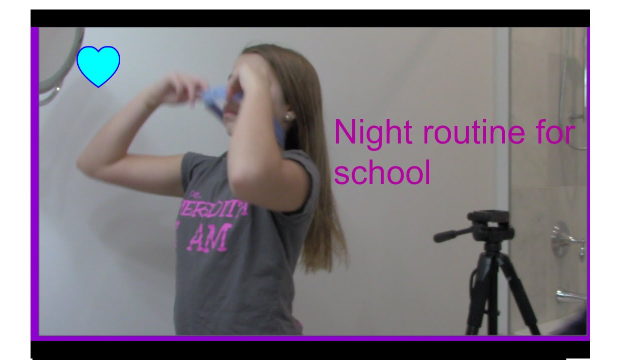 Night routine for school - YouTube