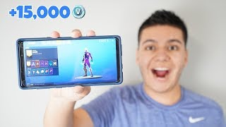 J'ai ÉTÉ DOUÉ THE FORTNITE GALAXY SKIN! (Note 9 Unboxing)