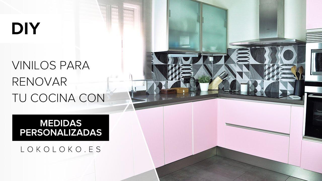 Vinilos para renovar tu cocina con medidas personalizadas lokoloko youtube - Cambiar cocina con vinilo ...