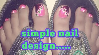 Simple nail design/Sruthy's world/Nail art at home