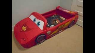 Lightning Mcqueen Race Car Bed Assembly And Review