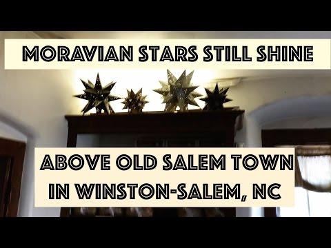 Moravian Stars Still Shine Over Old Salem Town in Winston Salem NC