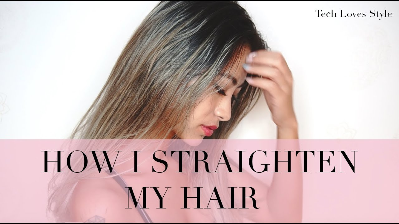 How I Straighten My Hair⎜Bio Ionic Review⎜Tech Loves Style
