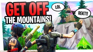GET OFF THE MOUNTAINS! - Wildcat and I rage at Fortnite Campers and 3rd Parties