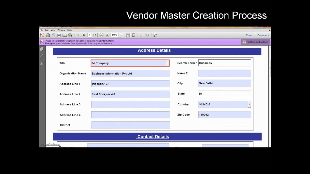 SAP Interactive Forms by Adobe (Vendor Master Creation in Offline ...