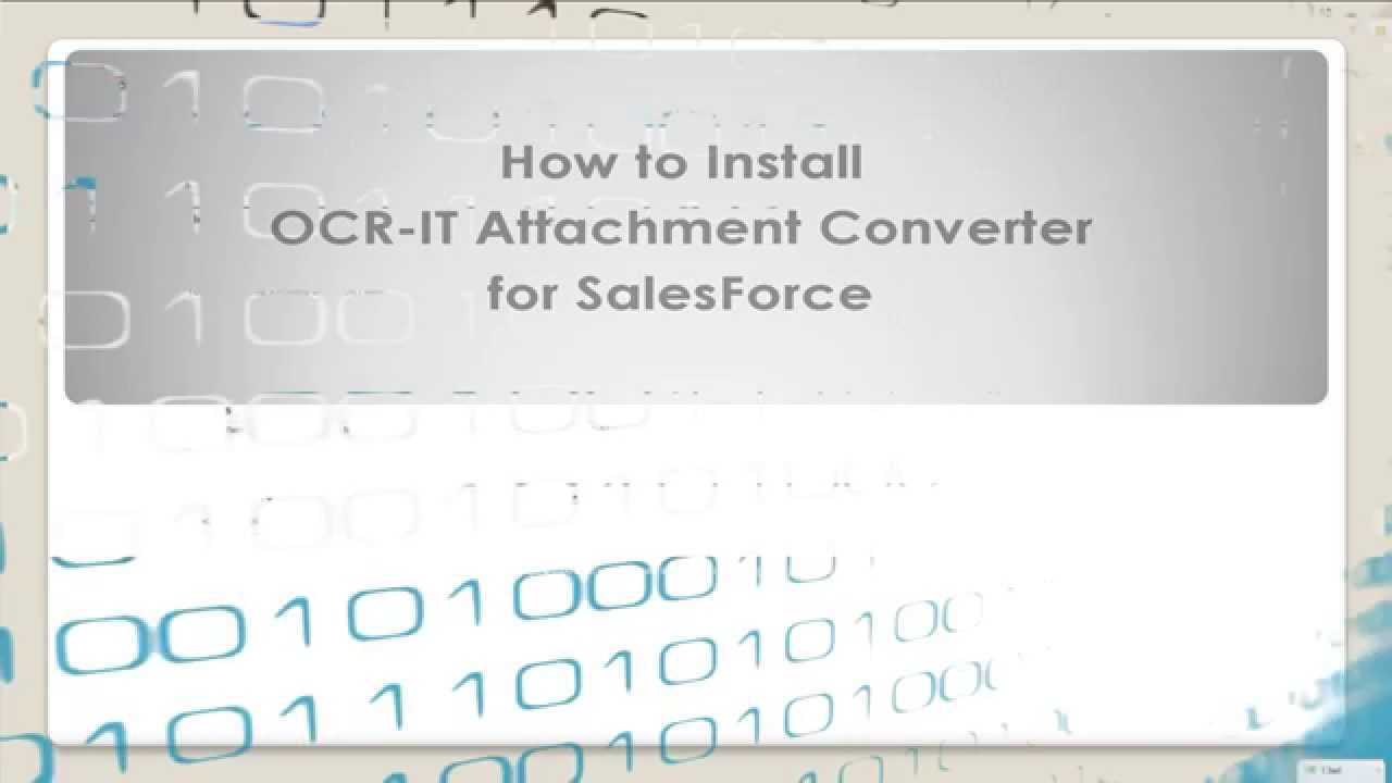 How to install OCR-IT Attachment Converter for SalesForce