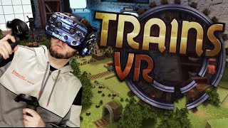 SURPRISINGLY FUN TRAIN PUZZLE GAME!   Trains VR Gameplay (HTC Vive Wireless)