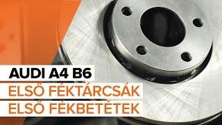 Hogyan cseréljünk Fékbetét készlet AUDI A4 (8E2, B6) - online ingyenes videó