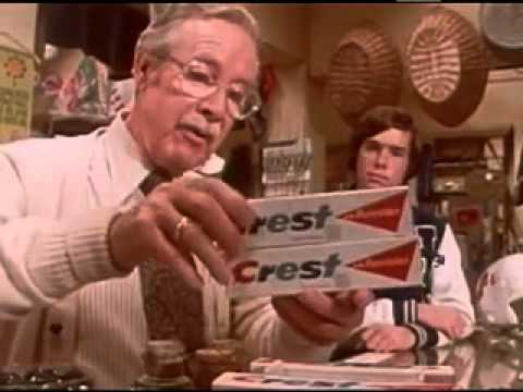 VINTAGE CREST TOOTHPASTE COMMERCIAL WITH CHARACTER ACTOR ARTHUR O'CONNELL