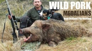 Wild Pork Medalians, boar hunting with dogs in New Zealand