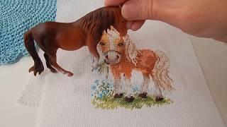 Вышивка от Алисы.Белогривая лошадка.Вышивка Дашенька.Девочка с котенком.