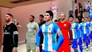 Malaga vs real madrid.1-2  | la liga 15 april 2018 gameplay