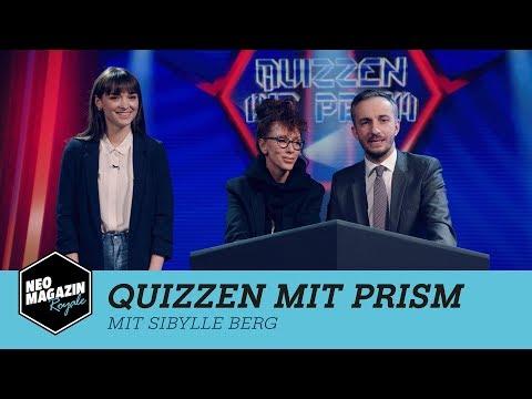 Quizzen mit PRISM mit Sibylle Berg   Neo Magazin Royale mit Jan Böhmermann - ZDFneo