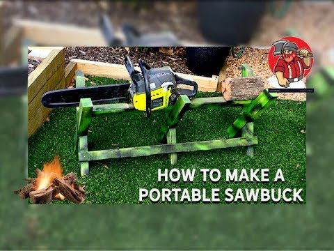 How to Make a Portable Sawbuck / Easy DIY Pallet Wood Project