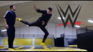 wwe moves at the trampoline park