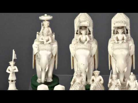 Anglo Indian John Company Carved Ivory Chess Set, Berhampore, Bengal, c.1840