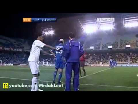 FIGHT between Al Sadd & Suwon Samsung Bluewings players -  Asian Champions League 2011
