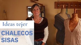 Diferentes tipos de sisas para Tejer Chalecos 💡 Ideas de Lucila