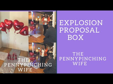 DIY exploding box / proposal box/valentines exploding box/proposal