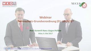 Webinar Datenschutz-Grundverordnung (EU-DSGVO)