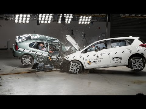1998 Toyota Corolla vs 2015 Toyota Corolla - Crash Test