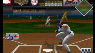 Triple Play 97 (PLAYSTATION) New York Y VS Clevland