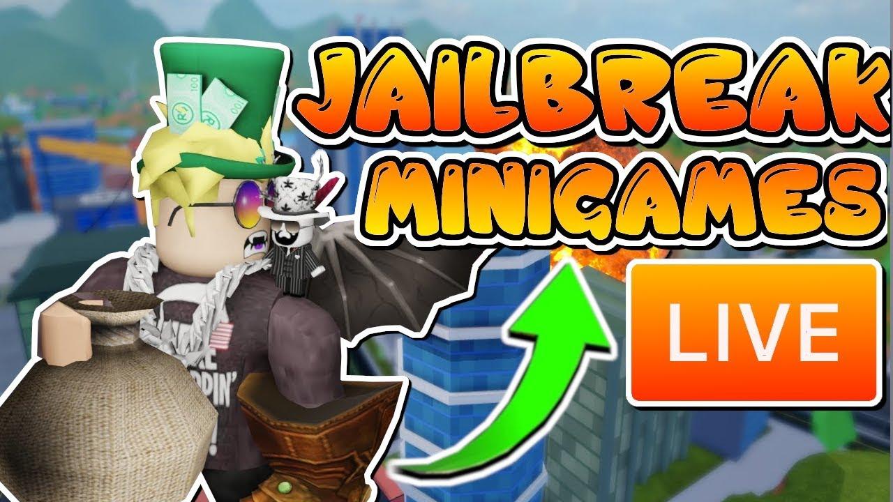 JAILBREAK MINIGAMES w/ VIEWERS! | ROBLOX JAILBREAK x PIGGY ...