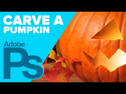 How to Carve a PUMPKIN in Photoshop for Halloween!