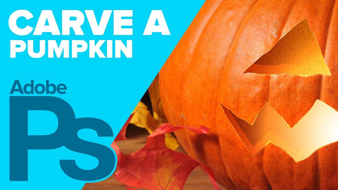 How To Carve A Pumpkin In Photoshop For Halloween Youtube