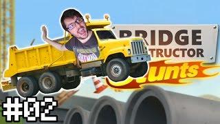 STUNT JUMP DUMP TRUCK (Bridge Constructor Stunts #2)