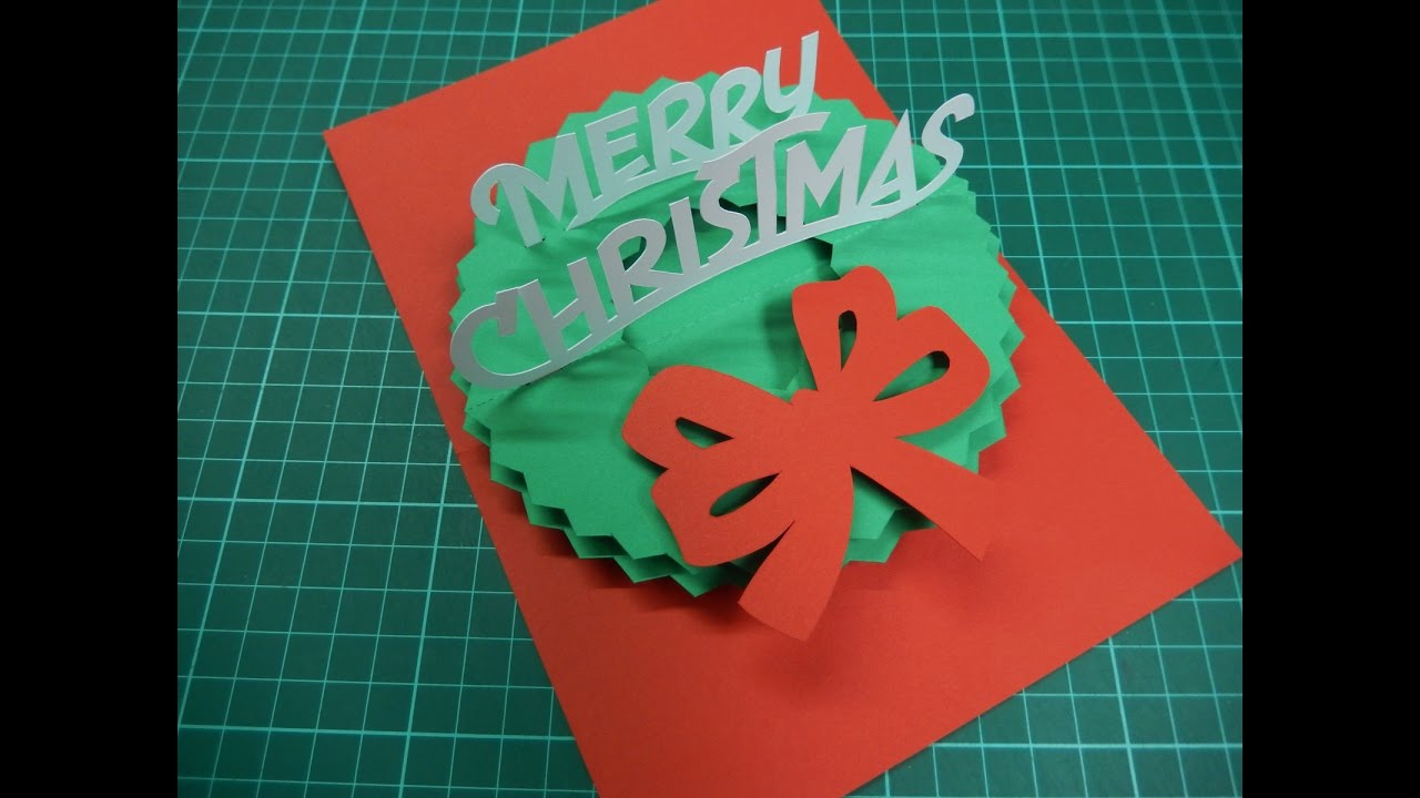 Christmas Pop Up Card Tutorial 01 YouTube