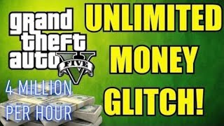GTA 5 MONEY GLITCH!!! 4 MILLION PER HOUR