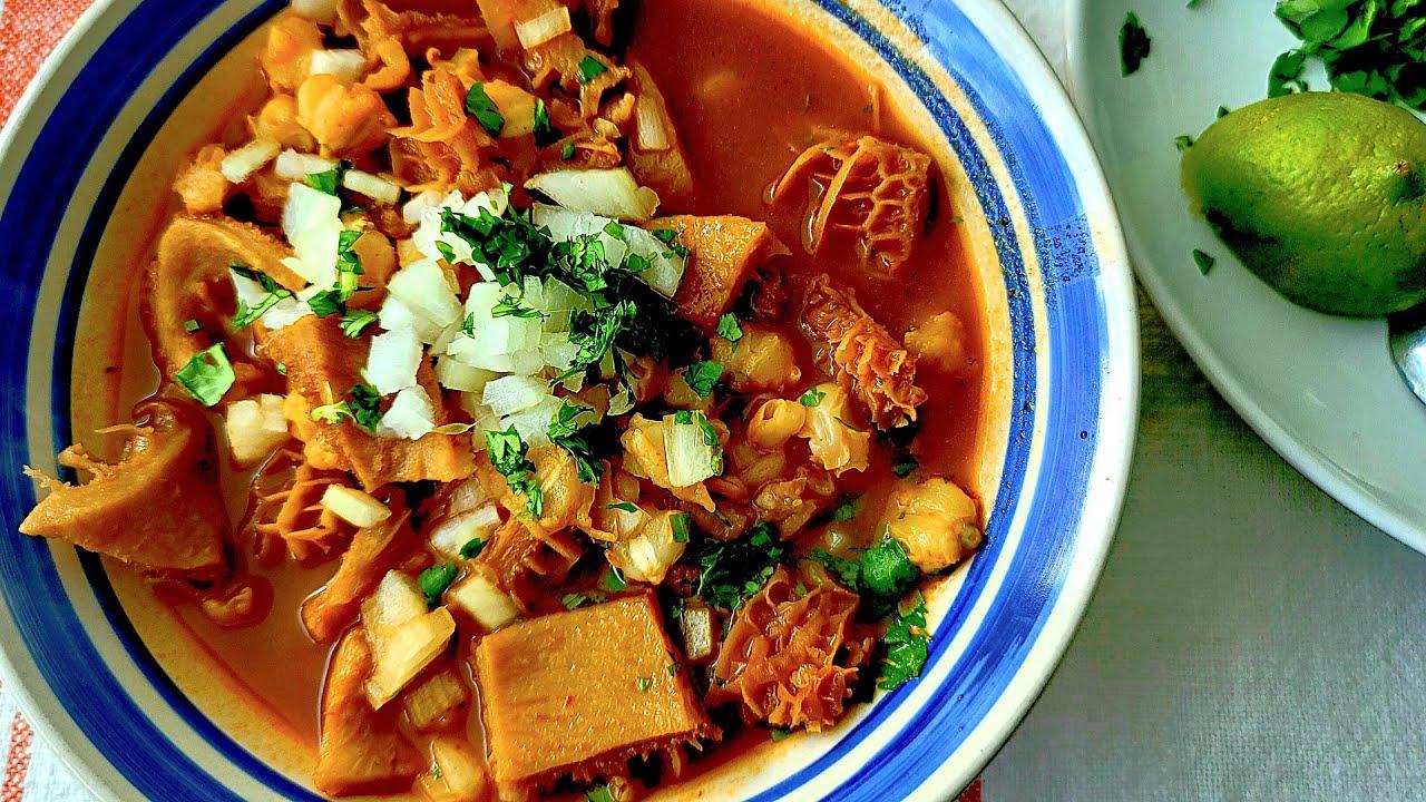 Menudo Rojo with Hominy | Simply Mamá Cooks