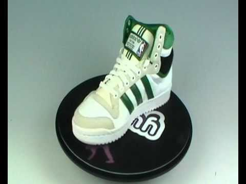 best website 009c0 d6321 Adidas Originals Top Ten Hi NBA Trainers Green at Yukka