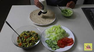 How to make a Vegetable wrap at home?