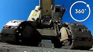 The biggest Liebherr excavator: R 9800 in 360°