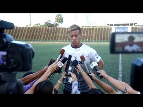 Keisuke Honda First Training With Cambodia National Football Team