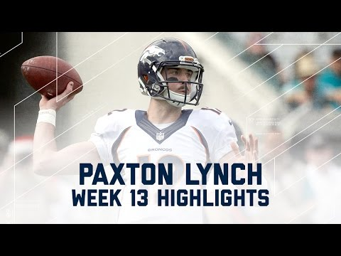 Paxton Lynch Leads Broncos to Victory! | Broncos vs. Jaguars | NFL Week 13 Player Highlights