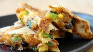 Black Bean And Corn Cajun Shrimp Quesadillas