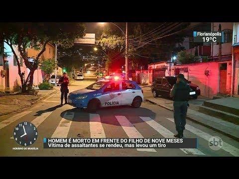 Homem morre em tentativa de assalto no RJ | SBT Brasil (25/10/17)