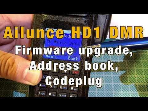 Ailunce HD1 Firmware Upgrade, Address book, Codeplug
