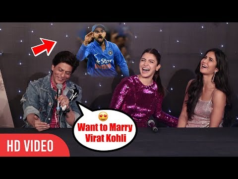 Meri shaadi Virat Kohli se honi chahiye  Shahrukh Khan  Anushka Sharma Hilarious Reaction