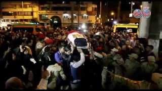 جنازة المجند نبيل العسيلى بمسجد لطفى شبارة بحضور محافظ بورسعيد ومدير الامنJ