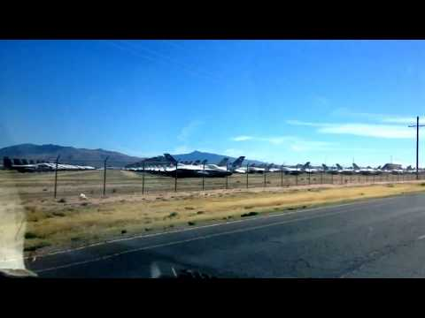 The airplane boneyard at Davis-Monthan Air Force Base in Tucson, Arizona