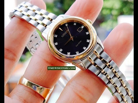 (REVIEW ĐỒNG HỒ)CITIZEN Diamond Black Dial Ladies Watch EW2394-59E 28MM | TIMEWISE