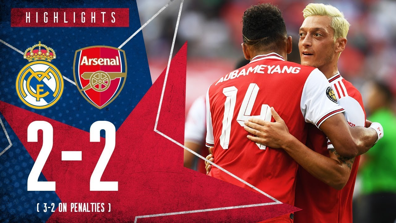 Download HIGHLIGHTS: Real Madrid 2-2 Arsenal | 3-2 on penalties | ICC 2019