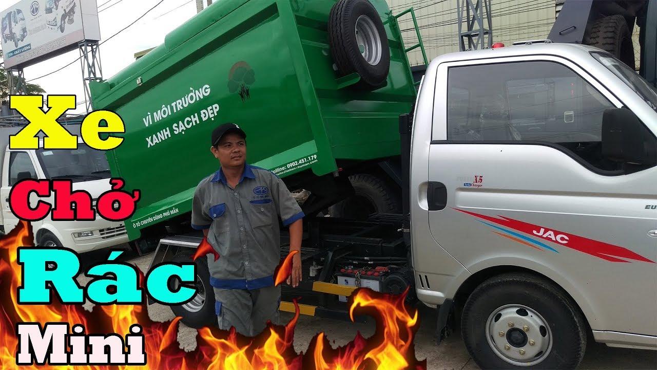 Xe chở rác mini - Xe tải chở rác rời, Jac chở rác 3.5 khối | TXT - Xe rác - YouTube