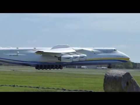 {HD} Antonov-225 Landing At Shannon Airport Ireland (Worlds Biggest Aircraft)