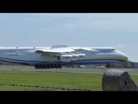 {HD} Antonov-225 Landing At Shannon Airport Ireland (Worlds Biggest Aircraft)